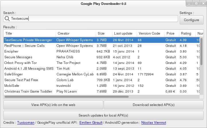 GooglePlay Downloader 0.5