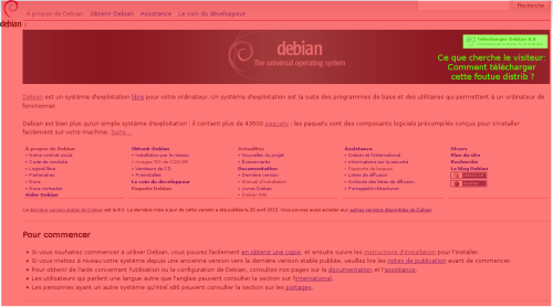 debian website