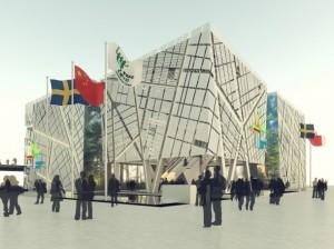 Pavillon suédois de jour